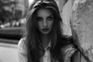 women monochrome face portrait