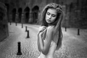 women monochrome photography