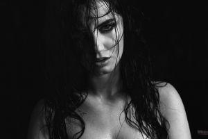 women monochrome portrait mimsy aurela skandaj model face