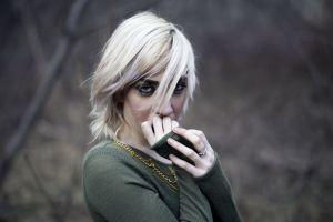 women outdoors model blonde