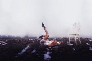 women outdoors model chair
