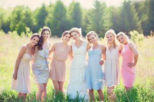 women outdoors standing dress group of women strapless dress women