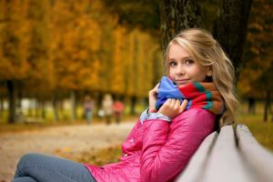 women park blonde