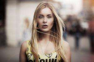 women portrait blonde face model