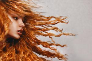 women portrait face redhead
