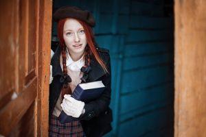 women redhead blue eyes