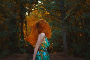 women redhead dress women outdoors portrait