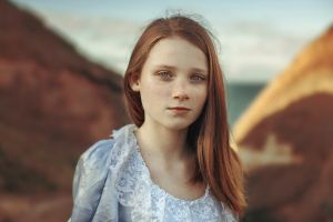 women redhead face portrait