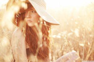 women redhead freckles