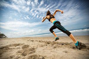 women running fitness model sport