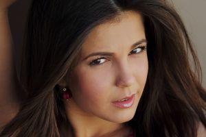 women sensual gaze zelda b brunette face