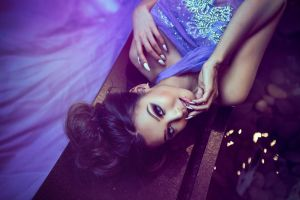 women smoky eyes brunette blue eyes dress model finger in mouth glamour