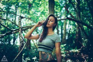 women tattoo portrait