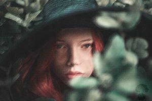 women texture digital art portrait