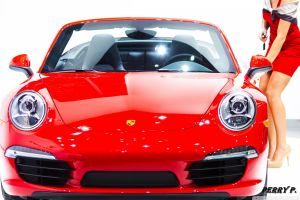 women with cars porsche red cars