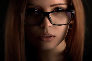 women with glasses closeup women face