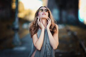 women with glasses women model face portrait