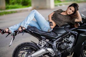 women with motorcycles women sensual gaze high heels asian