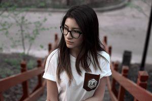 women women with glasses face portrait