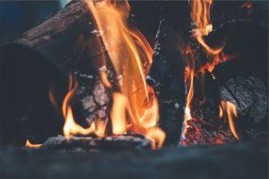 wood fire fireplace