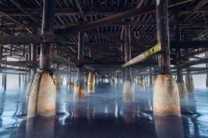wood sea construction dock water