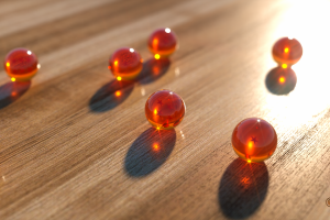 wooden surface render cinema4d  marble dragon ball