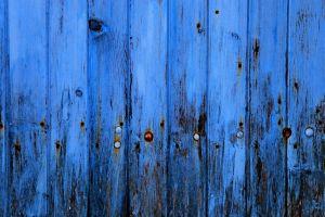 wooden surface thread minimalism rust texture planks wood blue metal