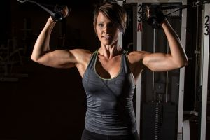 working out sports fitness model