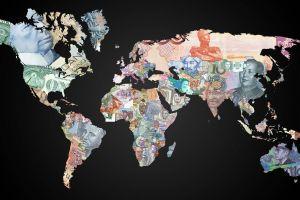 world dollar currency map money