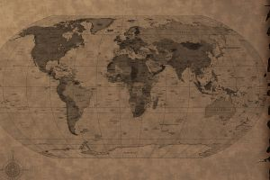 world map paper map