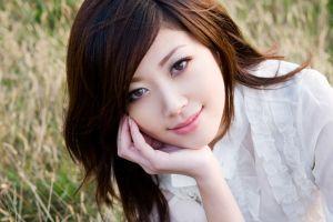 xiuren portrait women smiling portrait asian brunette