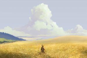 yellow field gold landscape