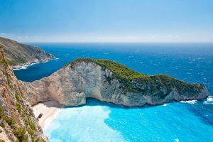 zakynthos navagio beach greece coast rock nature landscape beach sea zakynthos