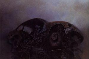 zdzisław beksiński car artwork picture vehicle dark