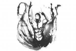 zyzz artwork white background