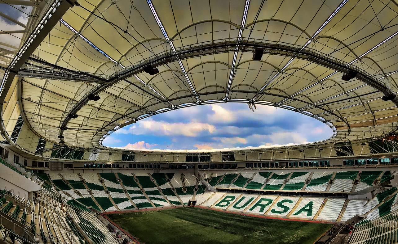 turkey arena building green bursaspor white bursa